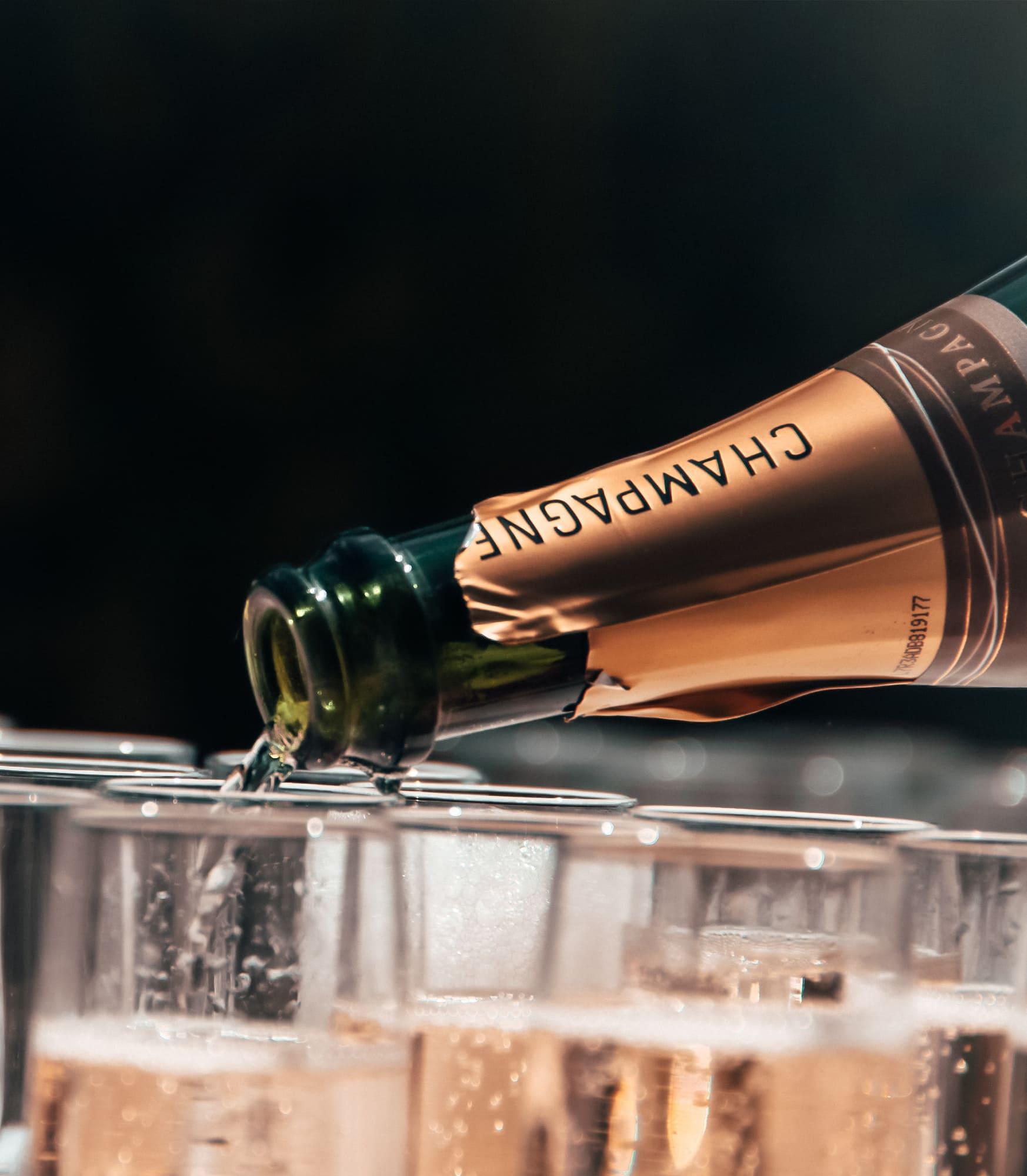 Champagne menu på Brasseriemathisen